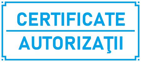 Certificate şi autorizaţii